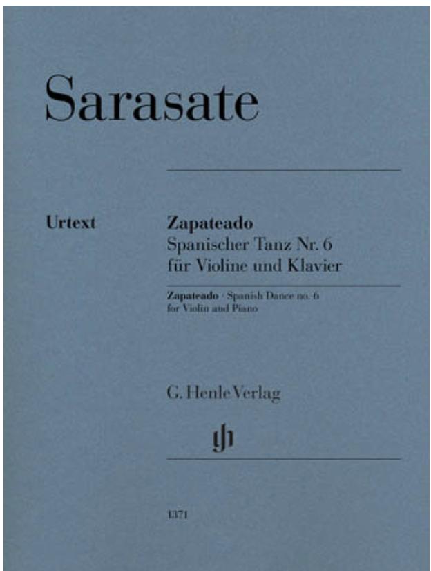 HAL LEONARD Sarasate: Zapateado - Spanish Dance No.6 (violin, piano) HENLE