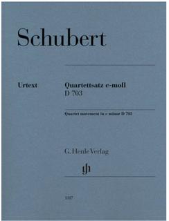 HAL LEONARD Schubert: Quartet movement in C minor D703 (string quartet) HENLE