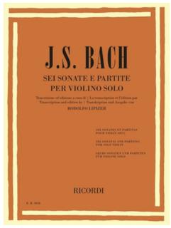 HAL LEONARD J.S. Bach (Lipizer): 6 Sonatas and Partitas (violin & piano) RICORDI