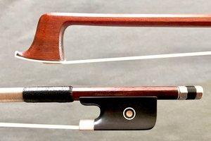 E. Dupree viola bow, ebony/silver