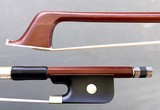 Unbranded 4/4 Brazilwood half-mounted student violin bow