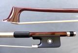 JonPaul JonPaul CORONA carbon fiber nickel viola bow with brown finish, USA