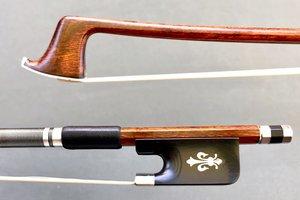 Carbon Fiber Brazilwood Veneer viola bow