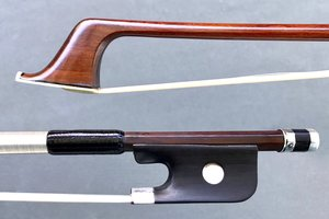 French Dominique Peccatte cello bow with Raffin Certificate, silver mounted, grafted under grip, FRANCE ***CERT***