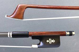 Carbon Fiber Brazilwood Veneer cello bow