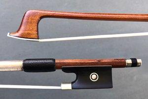 W.R. WILD violin bow, nickel & ebony, 65 g, ca 1950 GERMANY
