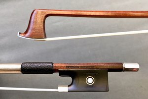 Gotthard Schuster silver violin bow, GERMANY, ca 1955