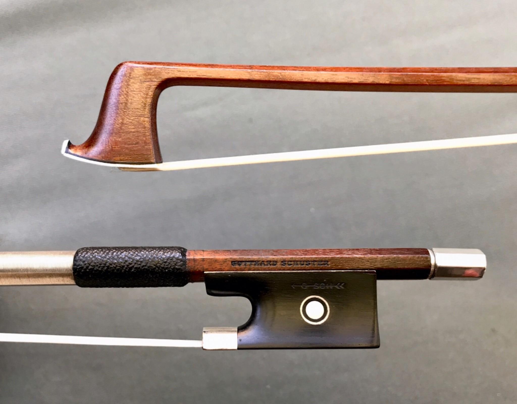 Gotthard Schuster silver violin bow, GERMANY, ca 1955