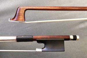 *ALBERT NÜRNBERGER* violin bow, silver & ebony, 60.4 g, GERMANY