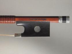 Brazilian Alysio de Mattos violin bow, pernambuco/silver, Rio/Paris