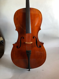 William Lawson old American cello, 1848, with repaired top