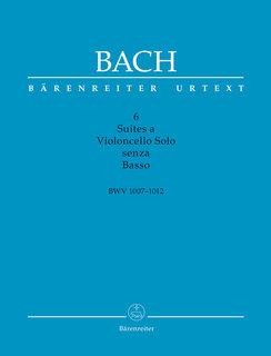 Barenreiter Bach, J.S. (Woodfull-Harris / Schwemer): 6 Suites for Cello Solo, BWV1007-1012, scholarly edition (cello) Barenreiter
