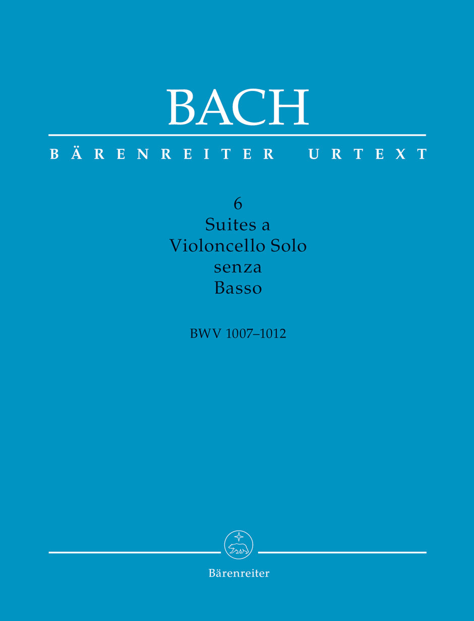 Barenreiter Bach, J.S. (Woodfull-Harris / Schwemer): 6 Suites for Cello Solo, BWV1007-1012, scholarly edition (cello) Barenreiter