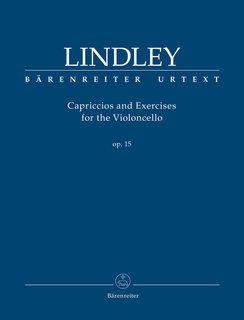 Barenreiter Lindley, R.: Capriccios and Exercises for the Violoncello op. 15 (cello) BARENREITER