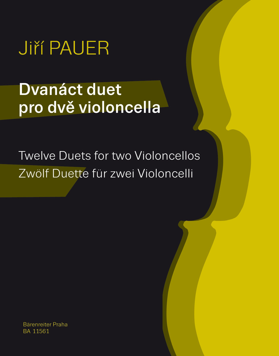 Barenreiter Pauer, Jiri: Twelve duets for 2 Violoncellos (2 cellos) Barenreiter