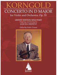 HAL LEONARD Korngold (Granat): Concerto in D Major op.35 (violin & piano) KEISER