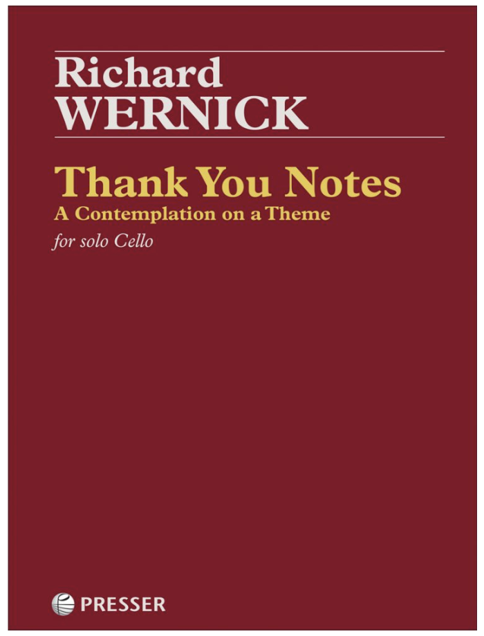 Theodore Presser Wernick: Thank You Notes (cello) PRESSER