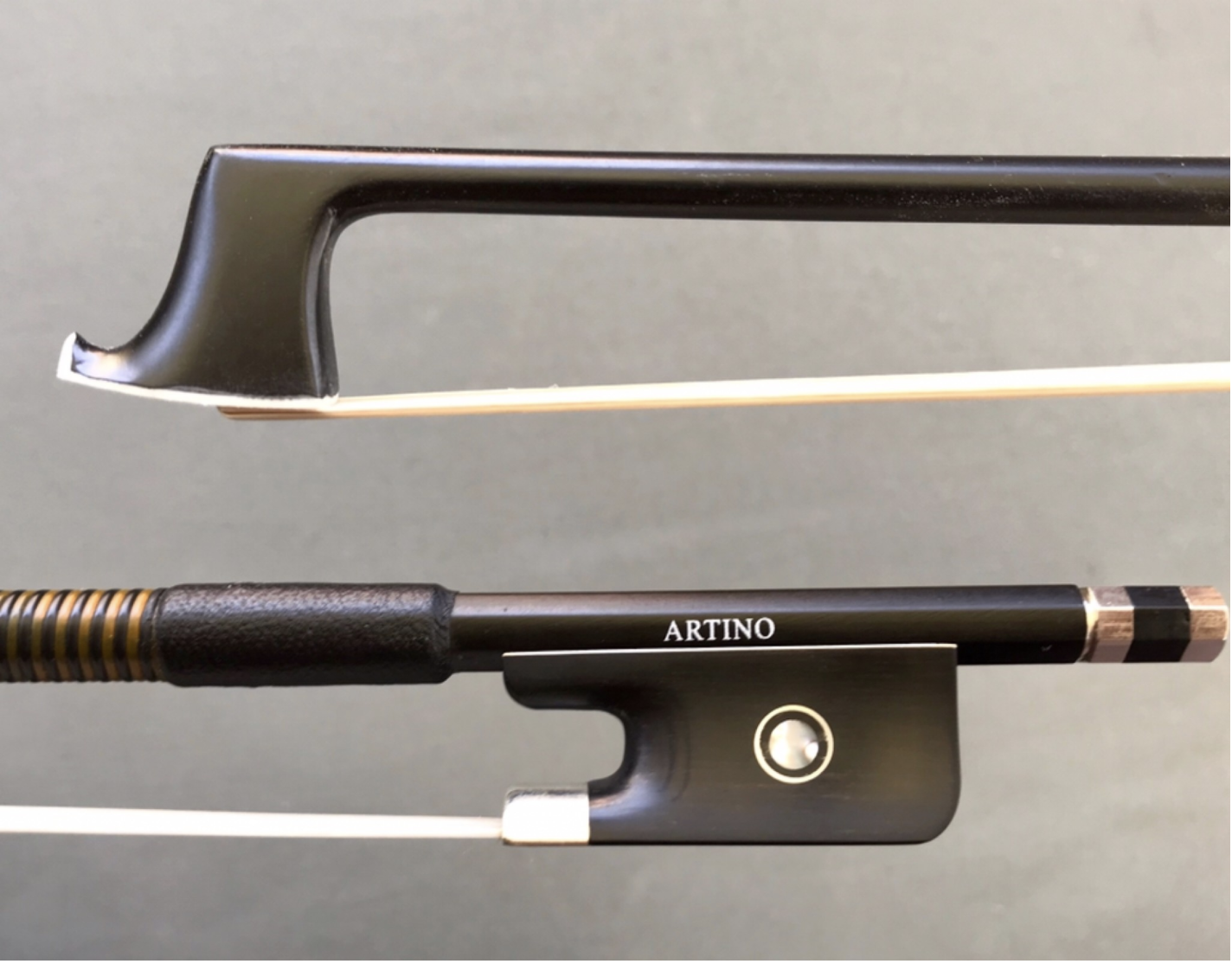 Otto Musica Artino fiberglass viola bow, 1/2, horsehair