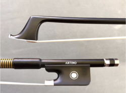 Otto Musica Artino fiberglass cello bow, 1/4, horsehair