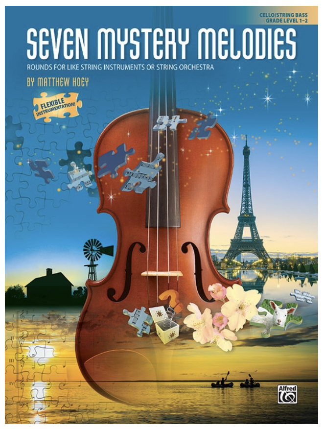 Alfred Music Hoey: Seven Mystery Melodies- Grade Level 1-2 (cello/bass) ALFRED