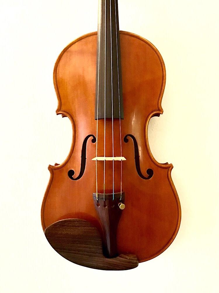 Carlos Funes Vitanza violin, 2017 Sanctus Seraphin 1732 model, San Francisco, USA