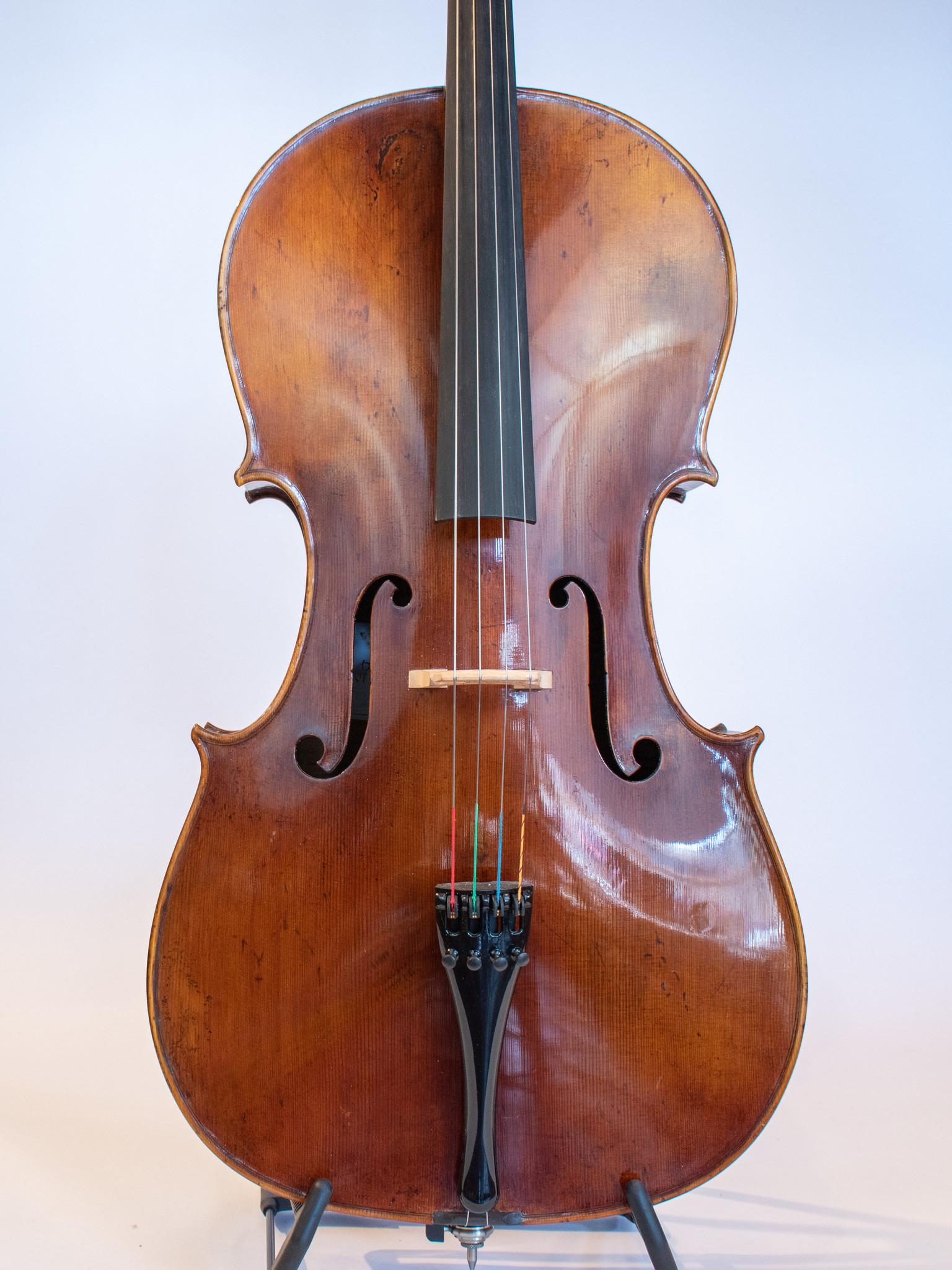 Hungarian Akos Balazs Gold cello, 2018, Budapest, Hungary