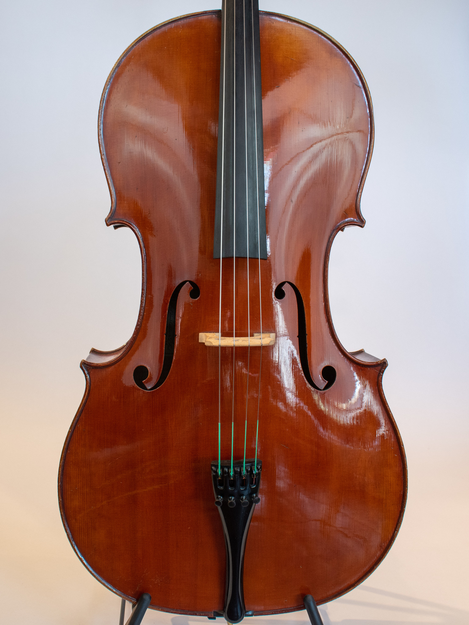 "A. Dieudonne cello ""Atelier de P. Hel, 1930 No.132, Lille, FRANCE, with J.J. Rampal certificate"