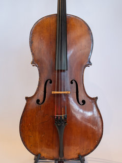 """Old German cello """"Repaired by L. Eschier"""", as-is"""