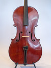 German 1920s Saxon 4/4 cello with red finish and Wittner geared pegs