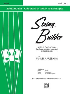 Alfred Music Applebaum: String Builder, Book One (violin) Belwin Course for Strings