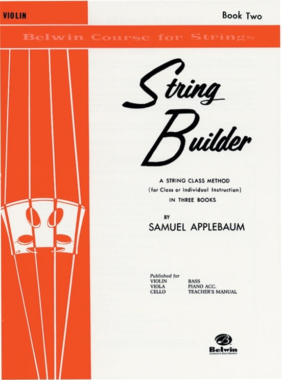 Alfred Music Applebaum: String Builder, Book Two (violin) Belwin Course for Strings