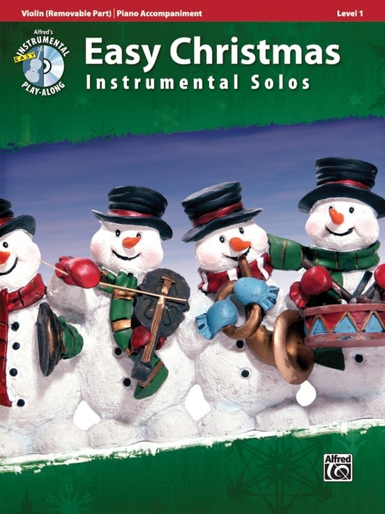 Alfred Music Easy Christmas Instrumental Solos, Level 1 for Strings (Violin & Piano) Alfred