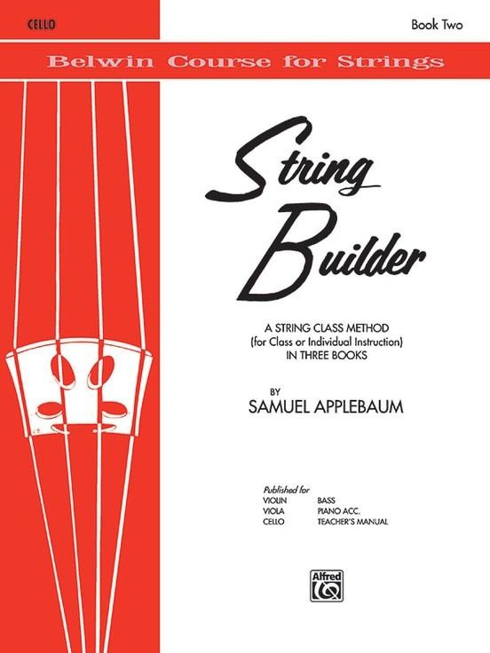 Alfred Music Applebaum: String Builder, Book 2 (cello) Belwin