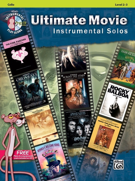 Alfred Music Ultimate Movie Instrumental Solos for Strings (Cello Book + CD)