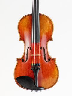 Fine Chinese 1/4 Strad Copy violin outfit, highly flamed one-piece maple back, 2002