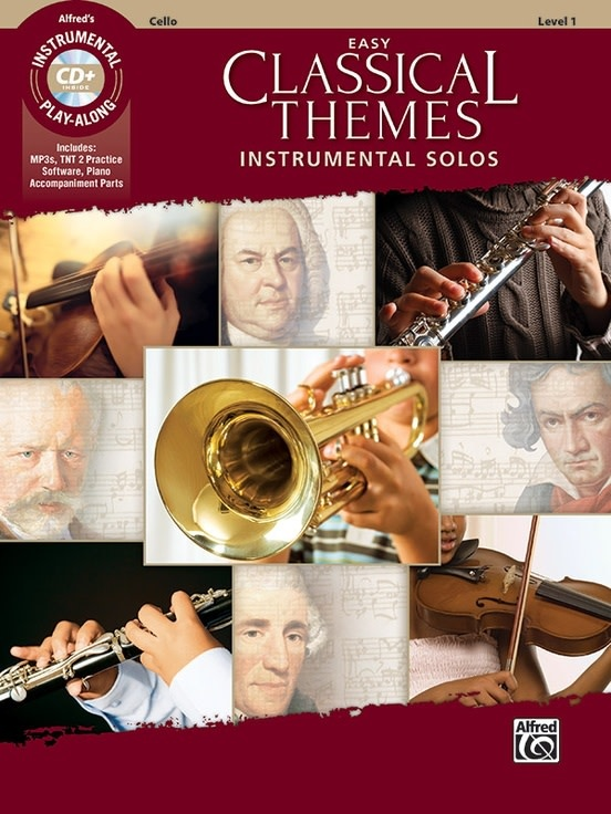 Alfred Music Easy Classical Themes Instrumental Solos for Strings (Cello Book & CD) Alfred