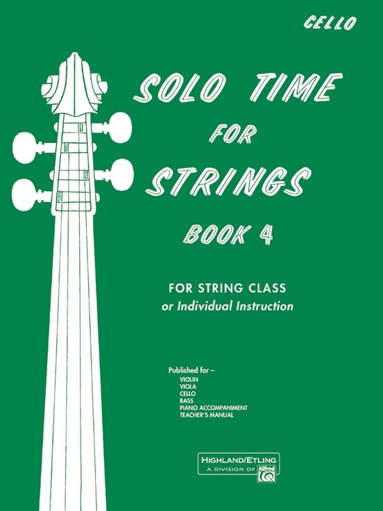 Alfred Music Etling, F.R.: Solo Time for Strings, Book 4 (cello)