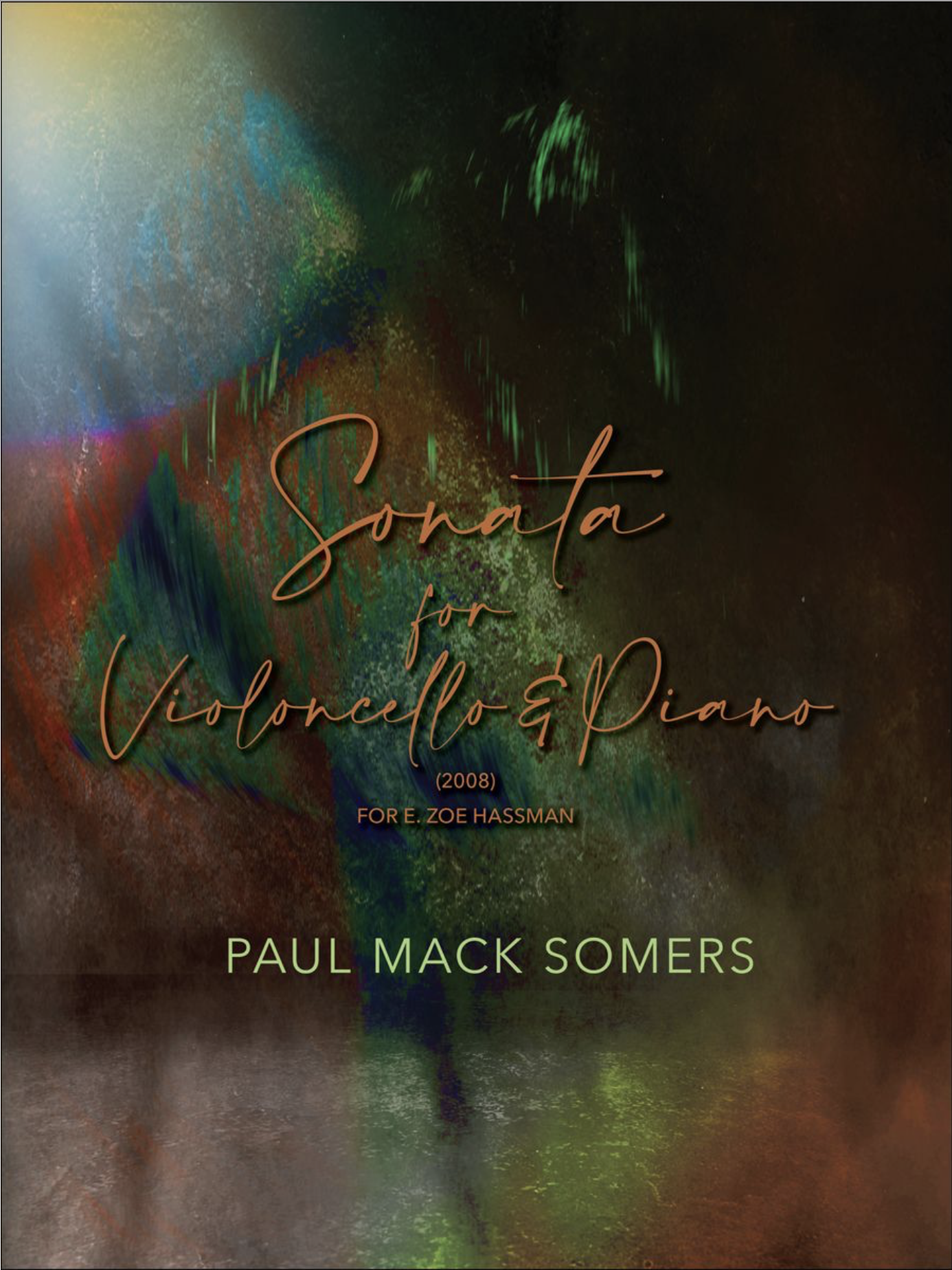 Carl Fischer Somers: Sonata (cello and piano)