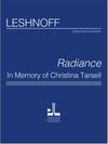 Jonathan Leshnoff Publishing Leshnoff: Radiance in Memory of Christina Tarsell (Piano quintet)