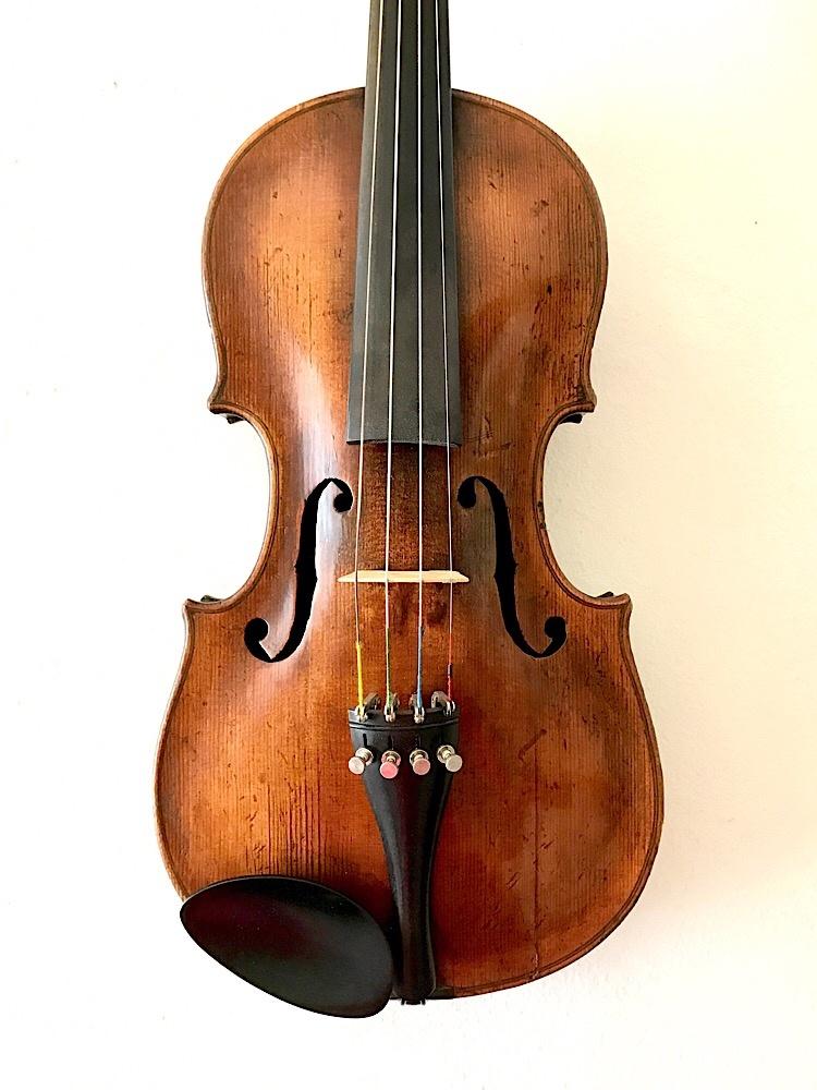 Old German 3/4 violin outfit, as-is