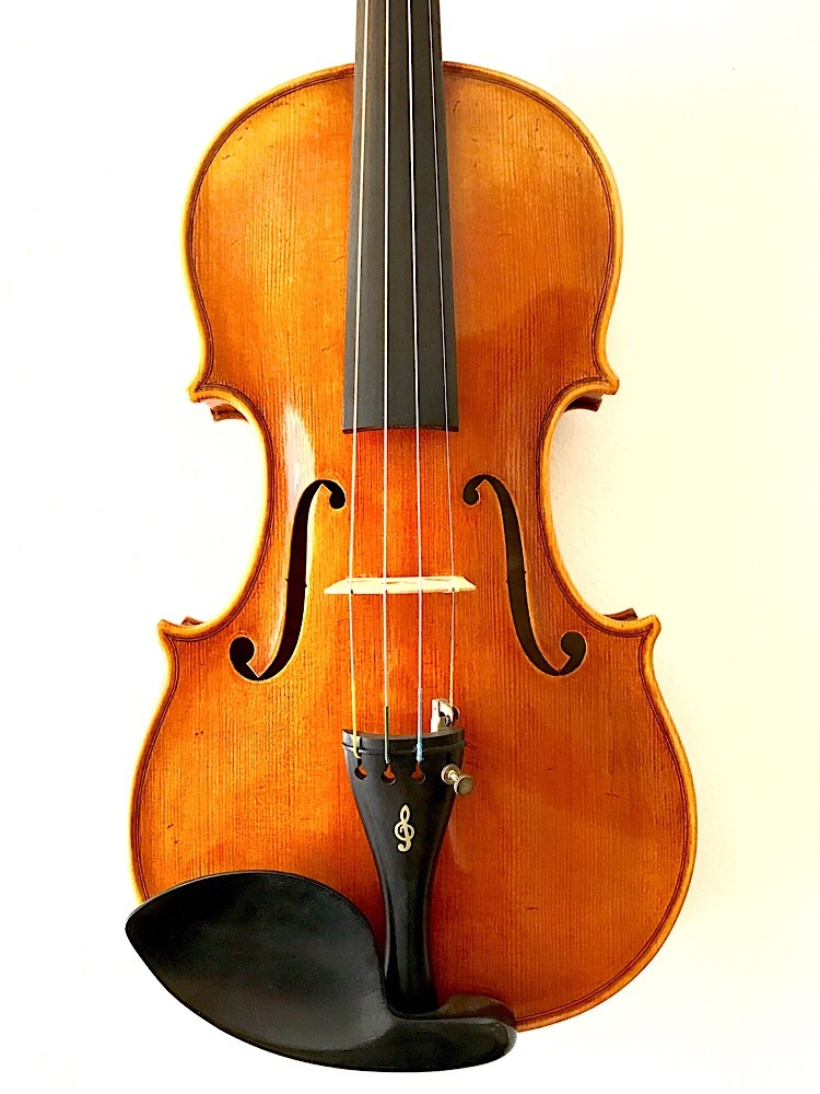 Korean Unlabeled antiqued 4/4 violin with 1-piece back