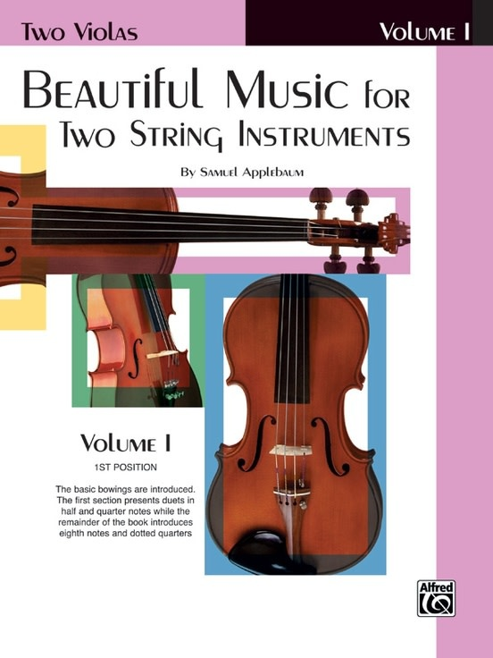 Alfred Music Applebaum, S.: Beautiful Music for Two String Instruments Volume 1 (2 violas) Alfred