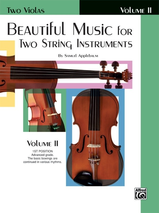 Alfred Music Applebaum, S.: Beautiful Music for Two String Instruments, Volume  2 (2 violas) Alfred