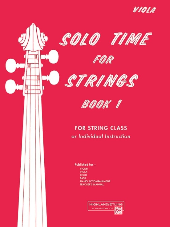 Alfred Music Etling, F.R.: Solo Time for Strings, Book 1 (viola)