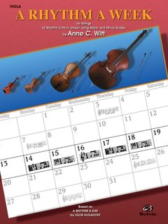 Alfred Music Witt, Anne: A Rhythm a Week (viola)