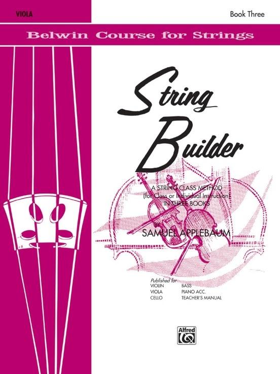 Alfred Music Applebaum: String Builder, Book Three (viola) Belwin