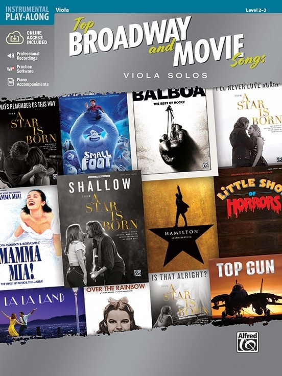 Top Broadway and Movie Songs (Viola Book & Online Accress) Alfred