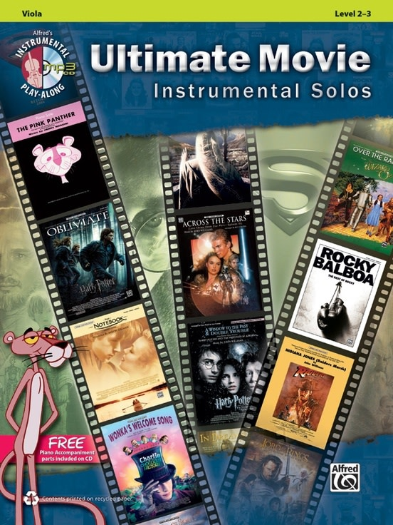 Alfred Music Ultimate Movie Instrumental Solos for Strings (Viola Book + CD)