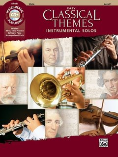 Alfred Music Easy Classical Themes Instrumental Solos for Strings (Viola Book & CD) Alfred