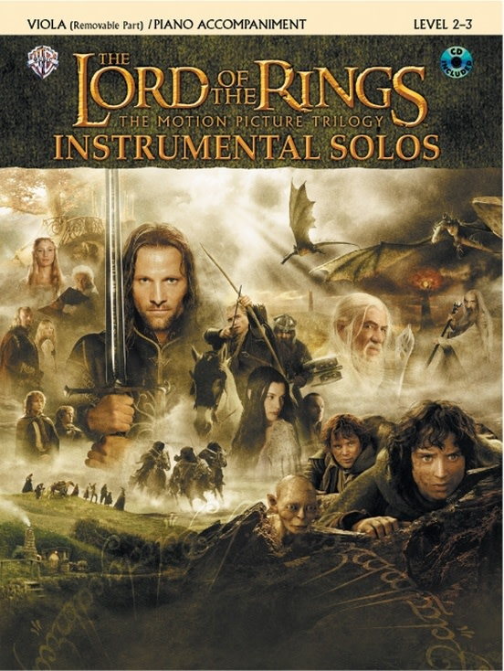 Alfred Music Lord of the Rings Instrumental Solos (viola, CD, Piano) Alfred